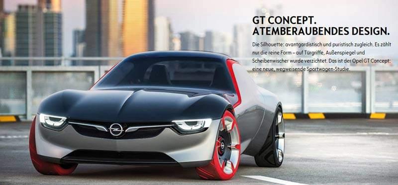Interessante Opel GT Konzeptstudie