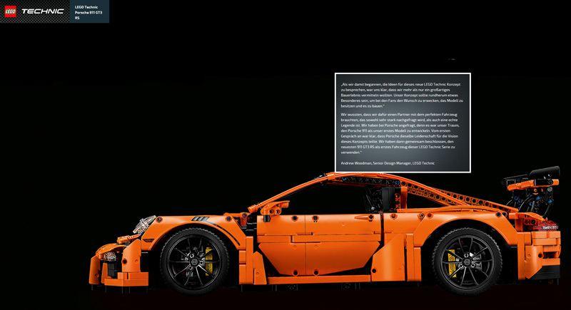 Den Porsche GT-3 gibts balt von Lego Technic